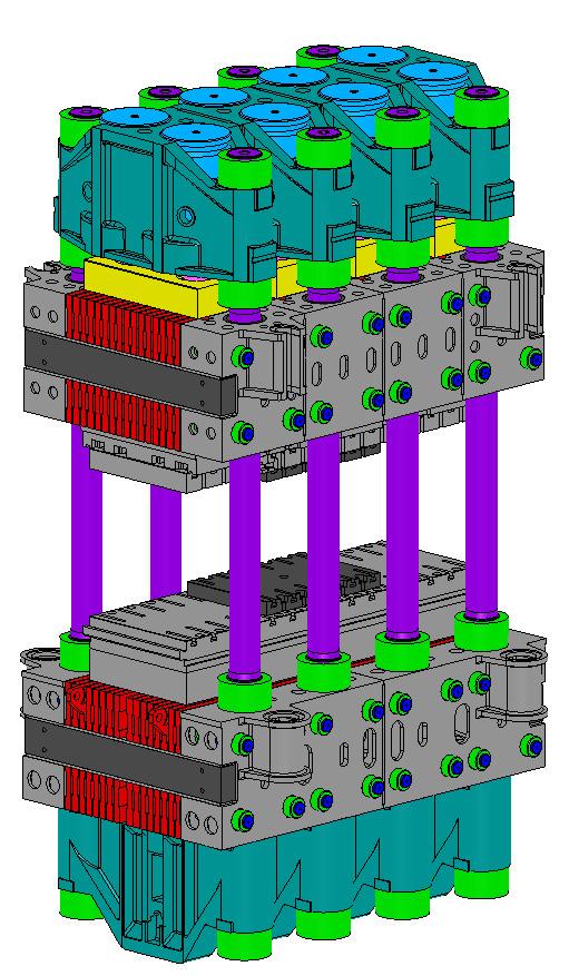 Трехмерная модель гидравлического штамповочного пресса силой 300 МН (УЗТМ)
