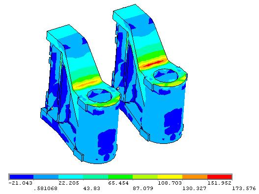 Напряженное состояние поперечных балок основания гидравлического штамповочного пресса силой 300 МН (УЗТМ)